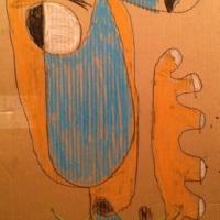 Figure-in-pastel-